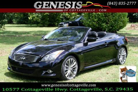 2012 Infiniti G37 Convertible for sale at Genesis Of Cottageville in Cottageville SC