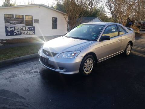 2004 Honda Civic for sale at TR MOTORS in Gastonia NC