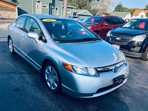 2007 Honda Civic for sale at SHEFFIELD MOTORS INC in Kenosha WI