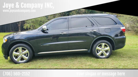 2012 Dodge Durango for sale at Joye & Company INC, in Augusta GA