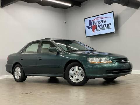 2002 Honda Accord for sale at Texas Prime Motors in Houston TX