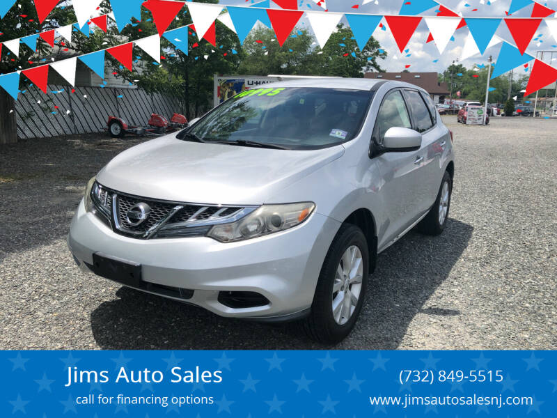2012 Nissan Murano for sale at Jims Auto Sales in Lakehurst NJ