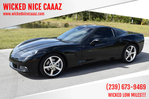 2010 Chevrolet Corvette for sale at WICKED NICE CAAAZ in Cape Coral FL