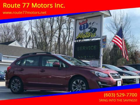 2015 Subaru Impreza for sale at Route 77 Motors Inc. in Weare NH