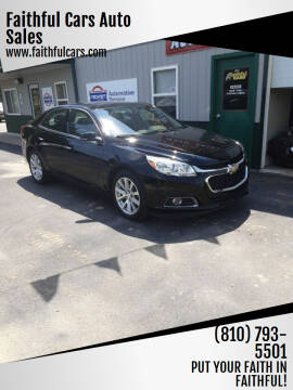 2016 Chevrolet Malibu Limited for sale at Faithful Cars Auto Sales in North Branch MI