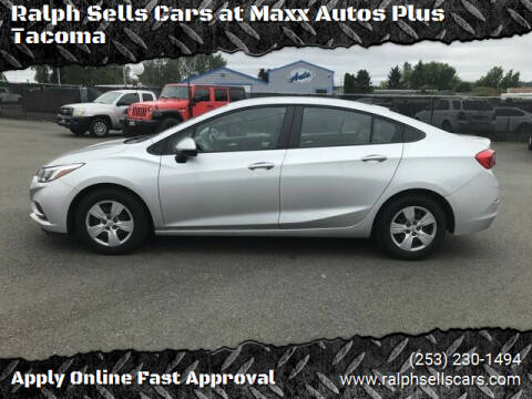 2017 Chevrolet Cruze for sale at Ralph Sells Cars at Maxx Autos Plus Tacoma in Tacoma WA