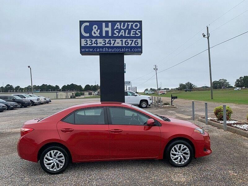 2019 Toyota Corolla for sale at C & H AUTO SALES WITH RICARDO ZAMORA in Daleville AL