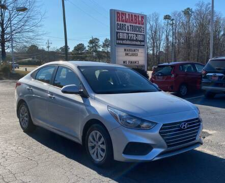 2019 Hyundai Accent for sale at Reliable Cars & Trucks LLC in Raleigh NC