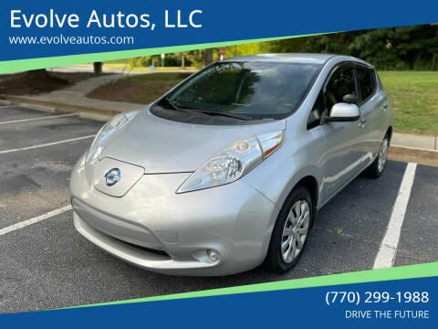 2015 Nissan LEAF for sale at Evolve Autos, LLC in Lawrenceville GA