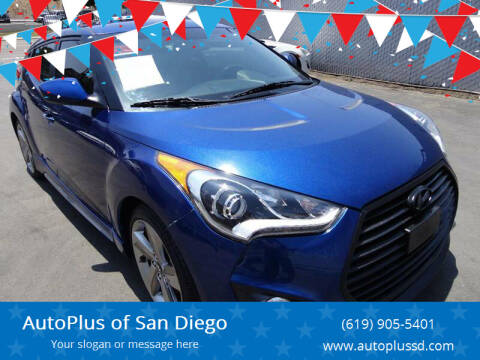 2015 Hyundai Veloster Turbo for sale at AutoPlus of San Diego in Spring Valley CA