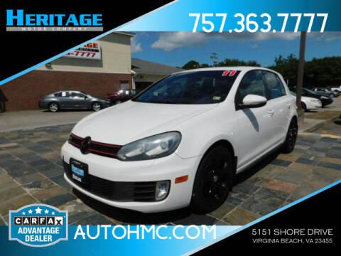 2011 Volkswagen GTI for sale at Heritage Motor Company in Virginia Beach VA