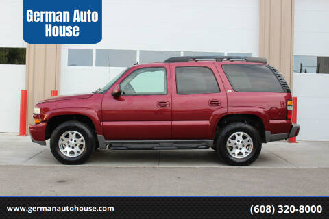 2004 Chevrolet Tahoe for sale at German Auto House in Fitchburg WI
