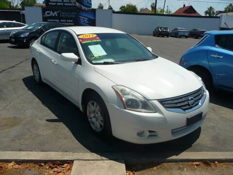 2012 Nissan Altima for sale at CENTURY MOTORS in Fresno CA