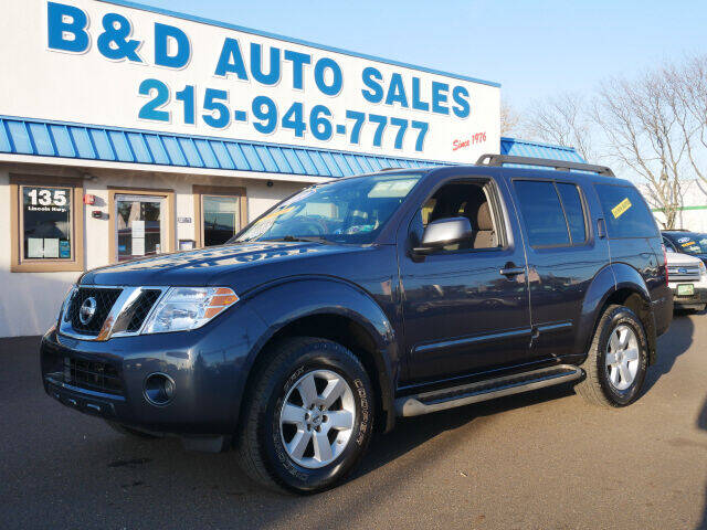 2010 Nissan Pathfinder for sale at B & D Auto Sales Inc. in Fairless Hills PA