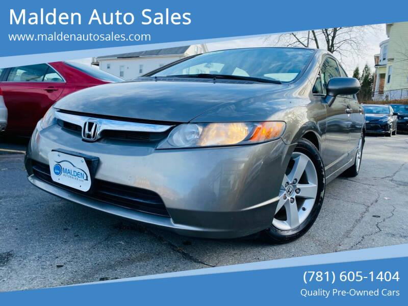 2008 Honda Civic for sale at Malden Auto Sales in Malden MA