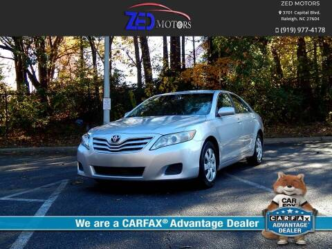 2010 Toyota Camry for sale at Zed Motors in Raleigh NC