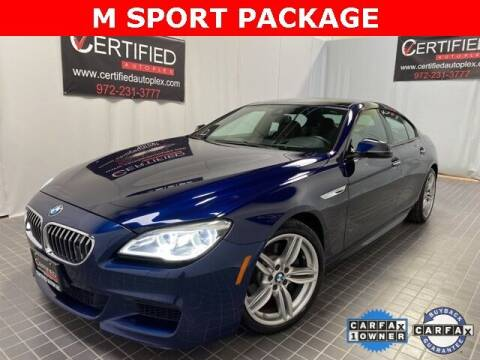 2018 BMW 6 Series for sale at CERTIFIED AUTOPLEX INC in Dallas TX