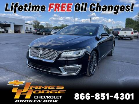 2018 Lincoln MKZ for sale at James Hodge Chevrolet of Broken Bow in Broken Bow OK