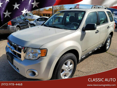 2008 Ford Escape for sale at Classic Auto in Greeley CO