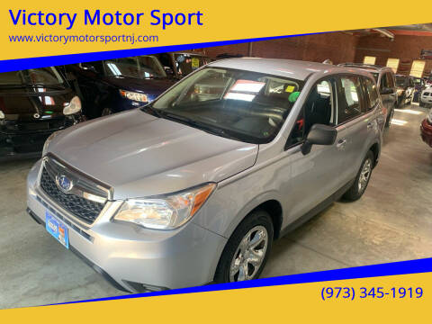 2016 Subaru Forester for sale at Victory Motor Sport in Paterson NJ