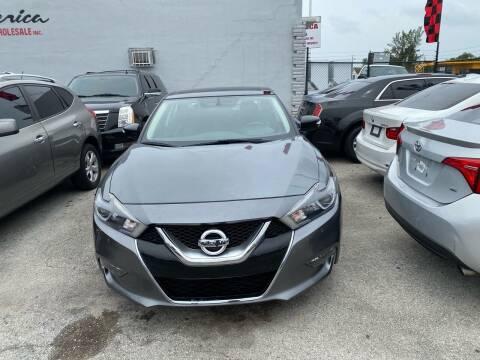 2016 Nissan Maxima for sale at America Auto Wholesale Inc in Miami FL