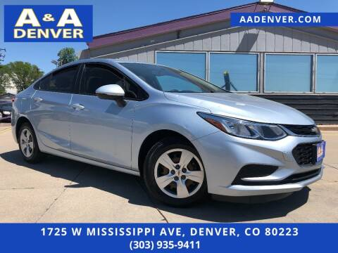 2017 Chevrolet Cruze for sale at A & A AUTO LLC in Denver CO
