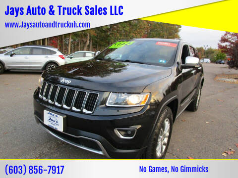 2015 Jeep Grand Cherokee for sale at Jays Auto & Truck Sales LLC in Loudon NH