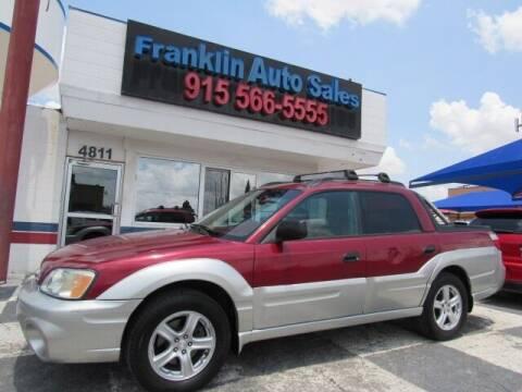 2004 Subaru Baja for sale at Franklin Auto Sales in El Paso TX