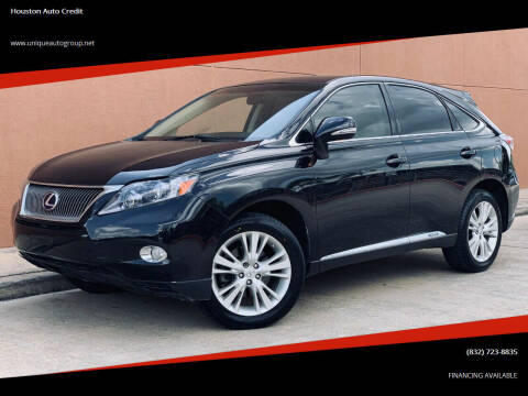 2011 Lexus RX 450h for sale at Houston Auto Credit in Houston TX