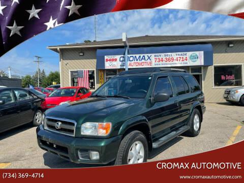 2002 Nissan Pathfinder for sale at Cromax Automotive in Ann Arbor MI