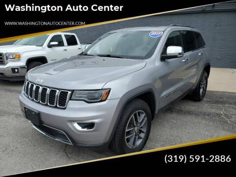 2017 Jeep Grand Cherokee for sale at Washington Auto Center in Washington IA