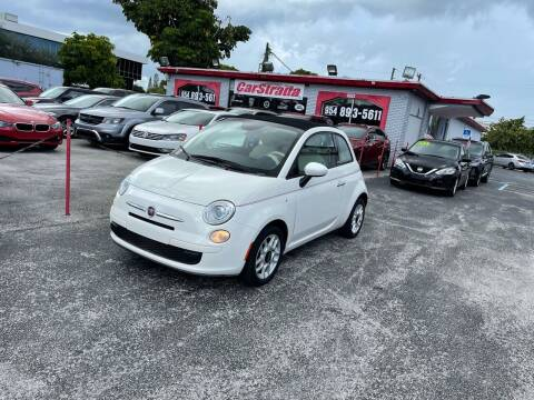 2013 FIAT 500c for sale at CARSTRADA in Hollywood FL