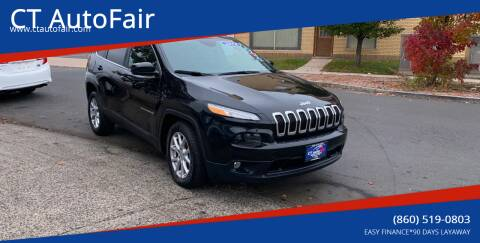 2014 Jeep Cherokee for sale at CT AutoFair in West Hartford CT