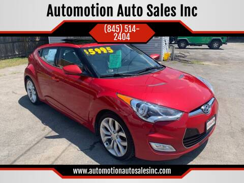 2012 Hyundai Veloster for sale at Automotion Auto Sales Inc in Kingston NY