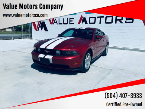 2012 Ford Mustang for sale at Value Motors Company in Marrero LA
