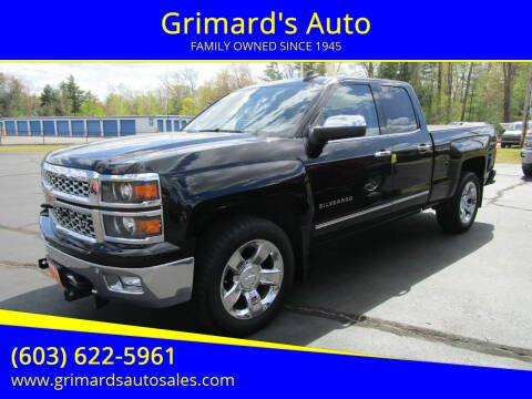 2015 Chevrolet Silverado 1500 for sale at Grimard's Auto in Hooksett NH