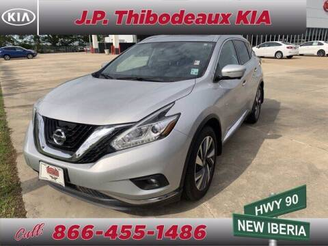2015 Nissan Murano for sale at J P Thibodeaux Used Cars in New Iberia LA
