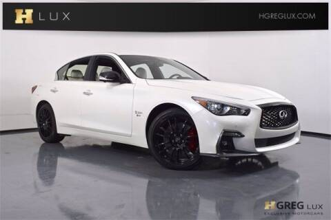 2019 Infiniti Q50 for sale at HGREG LUX EXCLUSIVE MOTORCARS in Pompano Beach FL