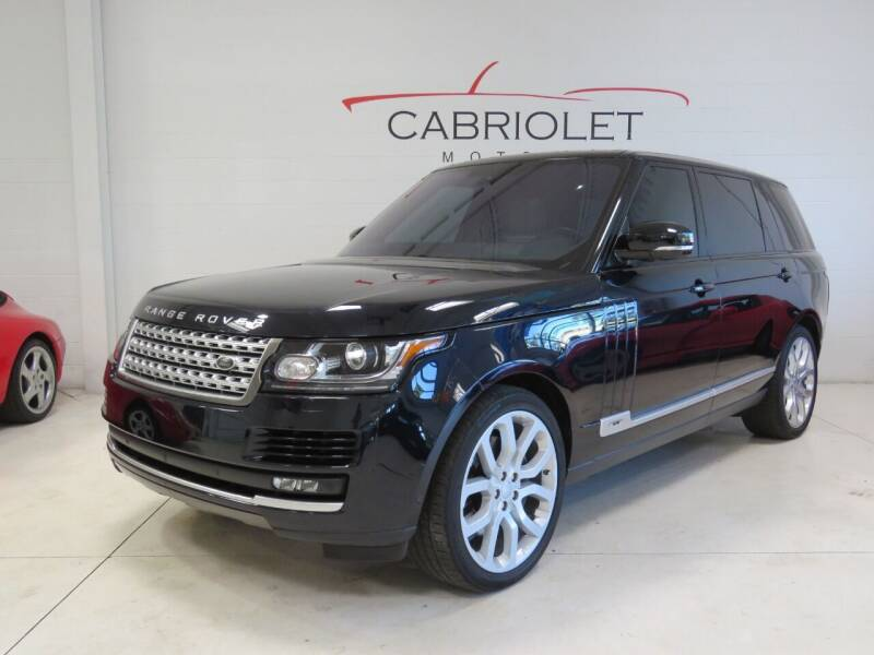 2016 Land Rover Range Rover for sale at Cabriolet Motors in Morrisville NC