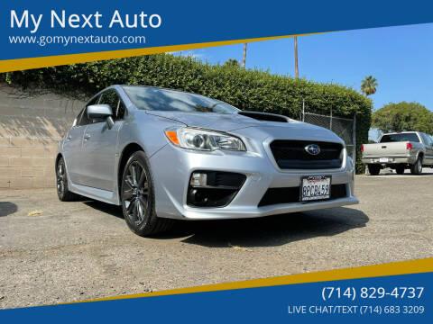 2016 Subaru WRX for sale at My Next Auto in Anaheim CA