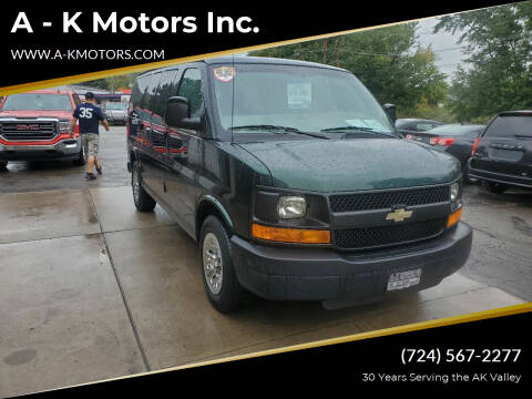 2012 Chevrolet Express Passenger for sale at A - K Motors Inc. in Vandergrift PA