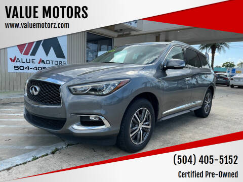 2017 Infiniti QX60 for sale at VALUE MOTORS in Kenner LA