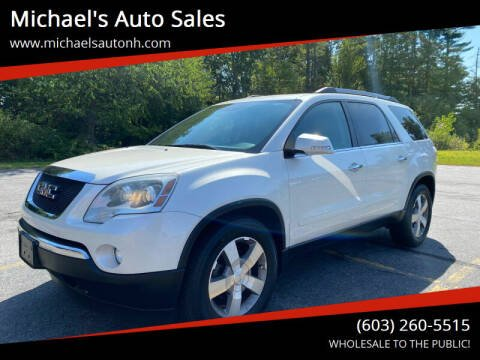 2010 GMC Acadia for sale at Michael's Auto Sales in Derry NH