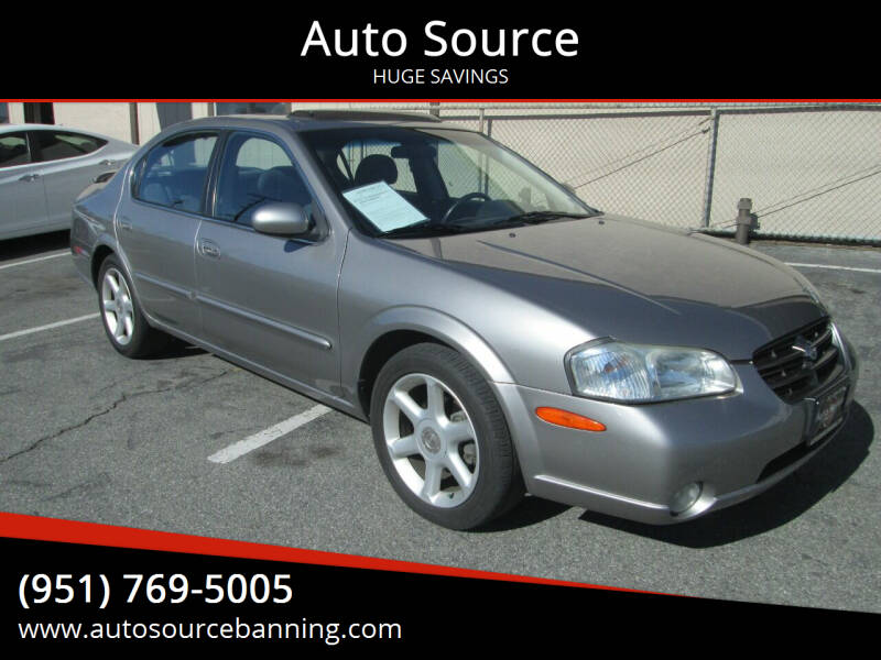 2000 Nissan Maxima for sale at Auto Source in Banning CA