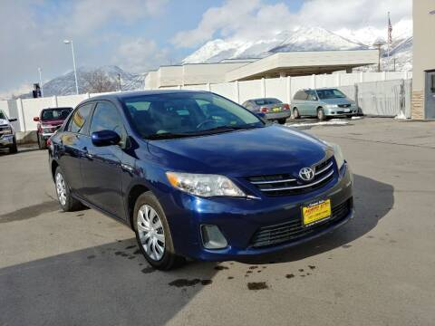 2013 Toyota Corolla for sale at Canyon Auto Sales in Orem UT