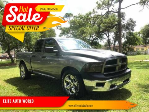 2012 RAM Ram Pickup 1500 for sale at ELITE AUTO WORLD in Fort Lauderdale FL
