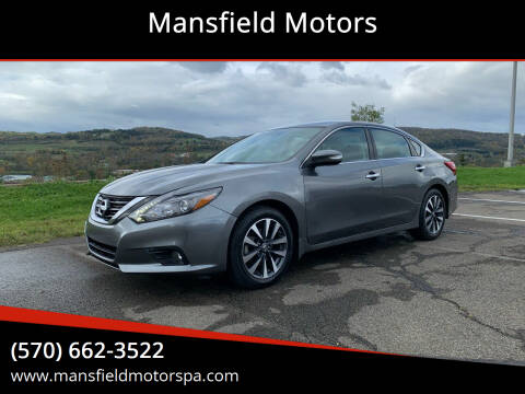 2017 Nissan Altima for sale at Mansfield Motors in Mansfield PA