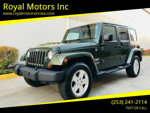 2008 Jeep Wrangler Unlimited for sale at Royal Motors Inc in Kent WA