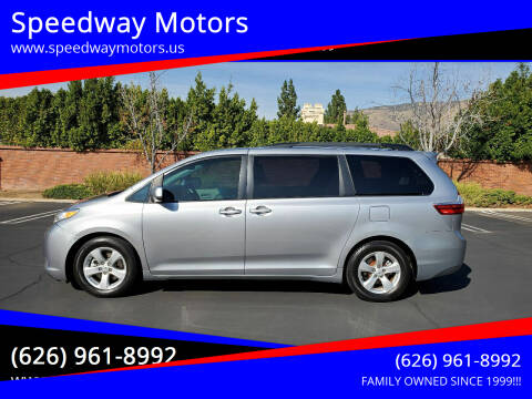 2015 Toyota Sienna for sale at Speedway Motors in Glendora CA