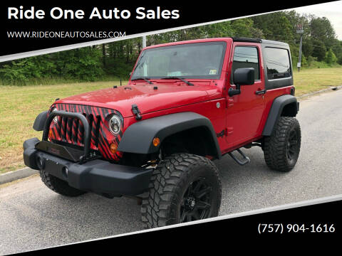 2010 Jeep Wrangler for sale at Ride One Auto Sales in Norfolk VA